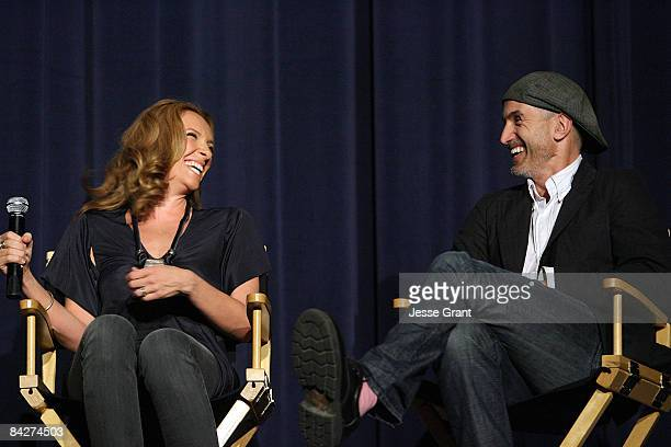 Actress Toni Collette and director Craig Gillespie attend the Australians In Film screening of 'United States of Tara' held at the Harmony Gold...
