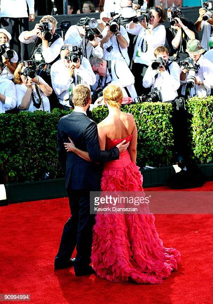 Actress Toni Collette and husband Dave Galafassi arrive at the 61st Primetime Emmy Awards held at the Nokia Theatre on September 20 2009 in Los...
