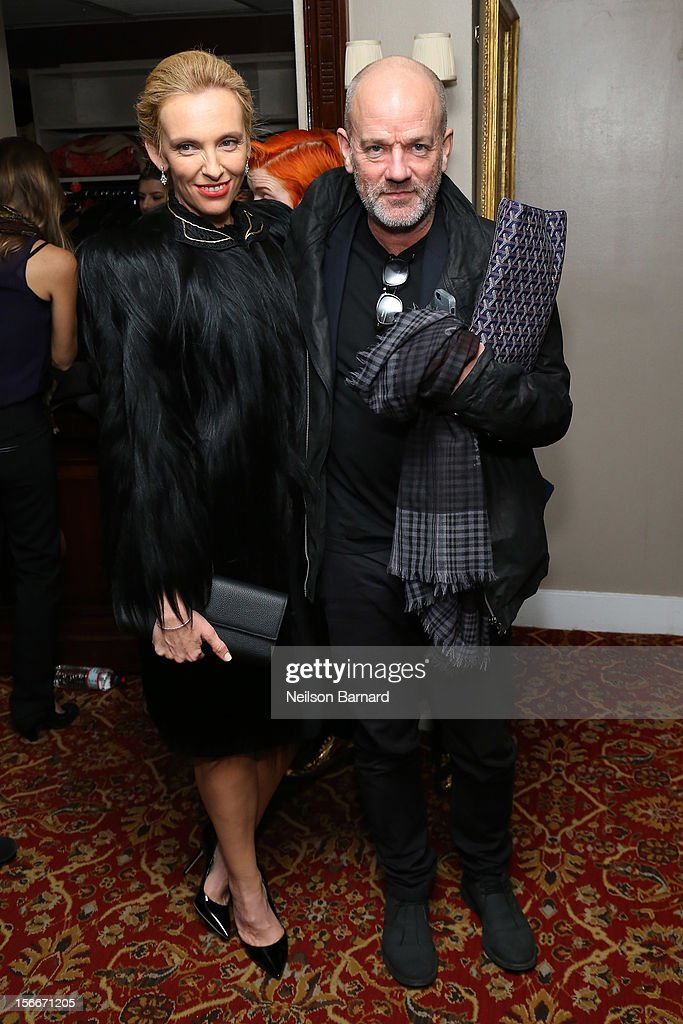 Actress Toni Collette (L) and Michael Stipe attend the 'Hitchcock' New York Premiere After Party at 21 Club on November 18, 2012 in New York City.