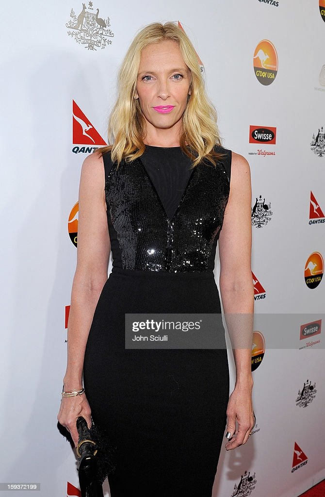 Actress Toni Collette arrives at the 2013 G'Day USA Los Angeles Black Tie Gala at JW Marriott Los Angeles at L.A. LIVE on January 12, 2013 in Los Angeles, California.