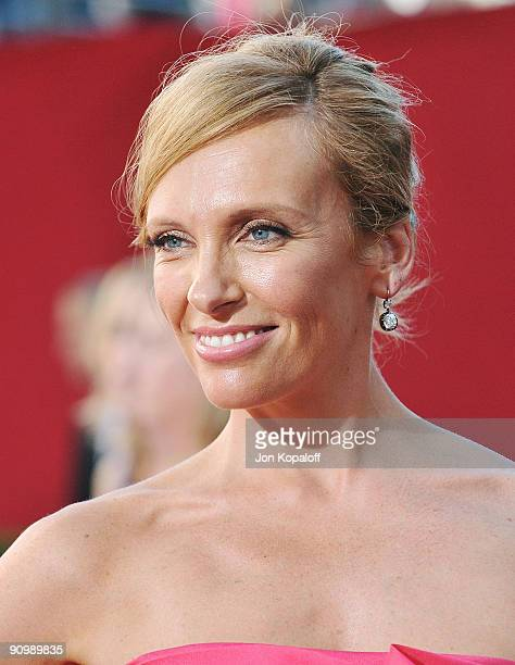 Actress Toni Collette arrives at the 61st Primetime Emmy Awards held at the Nokia Theatre LA Live on September 20 2009 in Los Angeles California