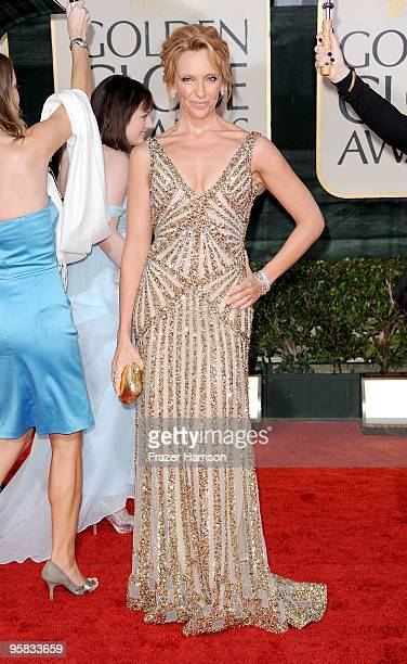 Actress Toni Collette arrives at the 67th Annual Golden Globe Awards held at The Beverly Hilton Hotel on January 17 2010 in Beverly Hills California