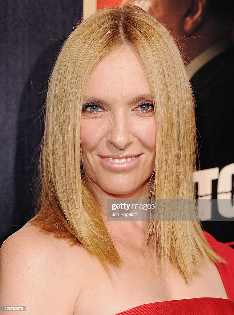 Actress Toni Collette arrives at the Los Angeles Premiere 'Hitchcock' at AMPAS Samuel Goldwyn Theater on November 20, 2012 in Beverly Hills, California.