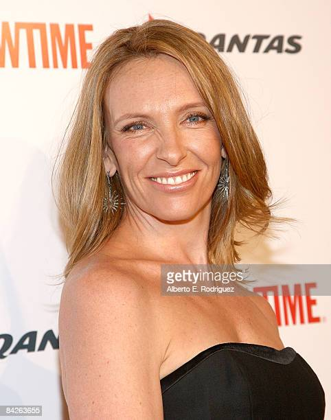 Actress Toni Collette arrives at the premiere of Showtime's 'United States of Tara' at the DGA Theater on January 12 2009 in Los Angeles California