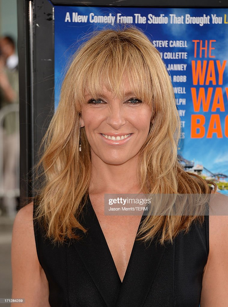 Actress <a gi-track='captionPersonalityLinkClicked' href=/galleries/search?phrase=Toni+Collette&family=editorial&specificpeople=204673 ng-click='$event.stopPropagation()'>Toni Collette</a> attends the 2013 Los Angeles Film Festival premiere of the Fox Searchlight Pictures' 'The Way, Way Back' held on June 23, 2013 in Los Angeles, California.
