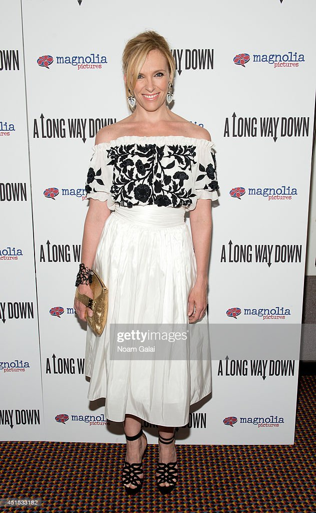 Actress <a gi-track='captionPersonalityLinkClicked' href=/galleries/search?phrase=Toni+Collette&family=editorial&specificpeople=204673 ng-click='$event.stopPropagation()'>Toni Collette</a> attends the 'A Long Way Down' New York Premiere at City Cinemas 123 on June 30, 2014 in New York City.