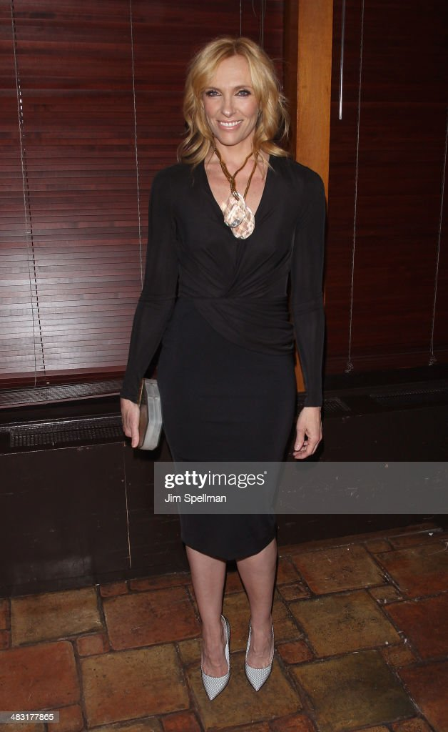 Actress <a gi-track='captionPersonalityLinkClicked' href=/galleries/search?phrase=Toni+Collette&family=editorial&specificpeople=204673 ng-click='$event.stopPropagation()'>Toni Collette</a> attends the after party for the Broadway opening night of 'The Realistic Joneses' at Redeye Grill on April 6, 2014 in New York City.