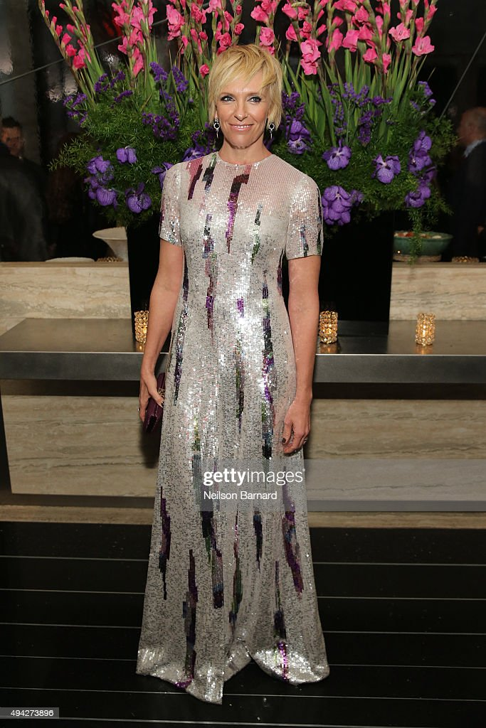 Actress Toni Collette attends the Montblanc & The Cinema Society screening of Roadside Attractions & Lionsgate's 'Miss You Already' at The Rainbow Room on October 25, 2015 in New York City.