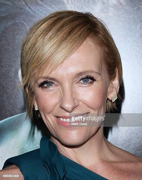 Actress Toni Collette attends the screening of Universal Pictures' 'Krampus' held at ArcLight Cinemas on November 30 2015 in Hollywood California
