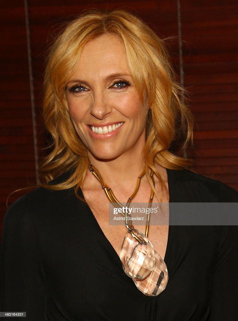 Actress <a gi-track='captionPersonalityLinkClicked' href=/galleries/search?phrase=Toni+Collette&family=editorial&specificpeople=204673 ng-click='$event.stopPropagation()'>Toni Collette</a> attends the 'The Realistic Joneses' opening night after party at The Redeye Grill on April 6, 2014 in New York City.