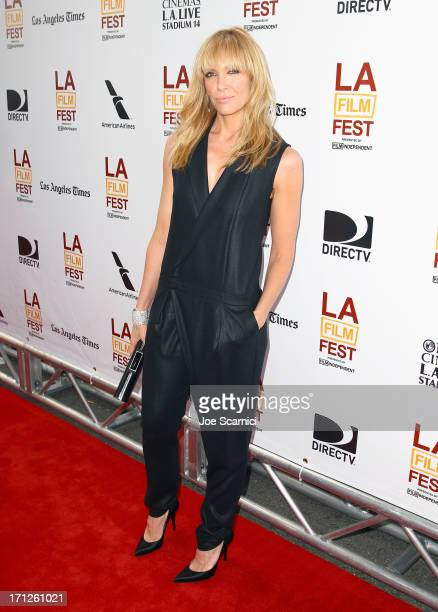 Actress Toni Collette attends 'The Way Way Back' premiere sponsored by DIRECTV during the 2013 Los Angeles Film Festival at Regal Cinemas LA Live on...