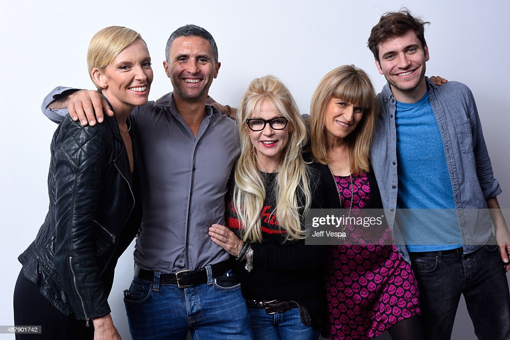 Actress Toni Collette, executive producer Christopher Simon, screenwriter/executive producer Morwenna Banks, director/executive producer Catherine Hardwicke and guest from 'Miss You Already' pose for a portrait during the 2015 Toronto International Film Festival at the TIFF Bell Lightbox on September 12, 2015 in Toronto, Canada.