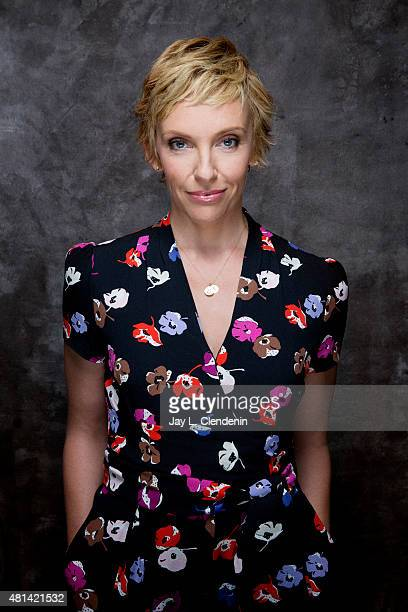 Actress Toni Collette of 'Krampus' poses for a portrait at ComicCon International 2015 for Los Angeles Times on July 9 2015 in San Diego California...