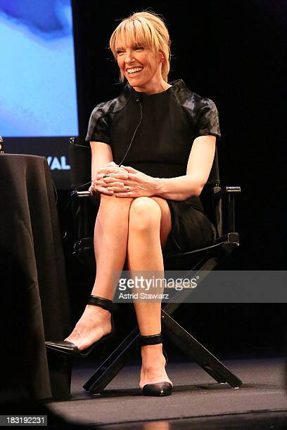 Actress Toni Collette speaks during The New Yorker Festival In Conversation Toni Collette Talks With Ariel Levy at Florence Gould Hall on October 5...