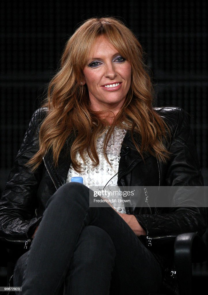Actress Toni Collette speaks onstage at the Showtime 'United States of Tara' Q&A portion of the 2010 Winter TCA Tour day 1 at the Langham Hotel on January 9, 2010 in Pasadena, California.