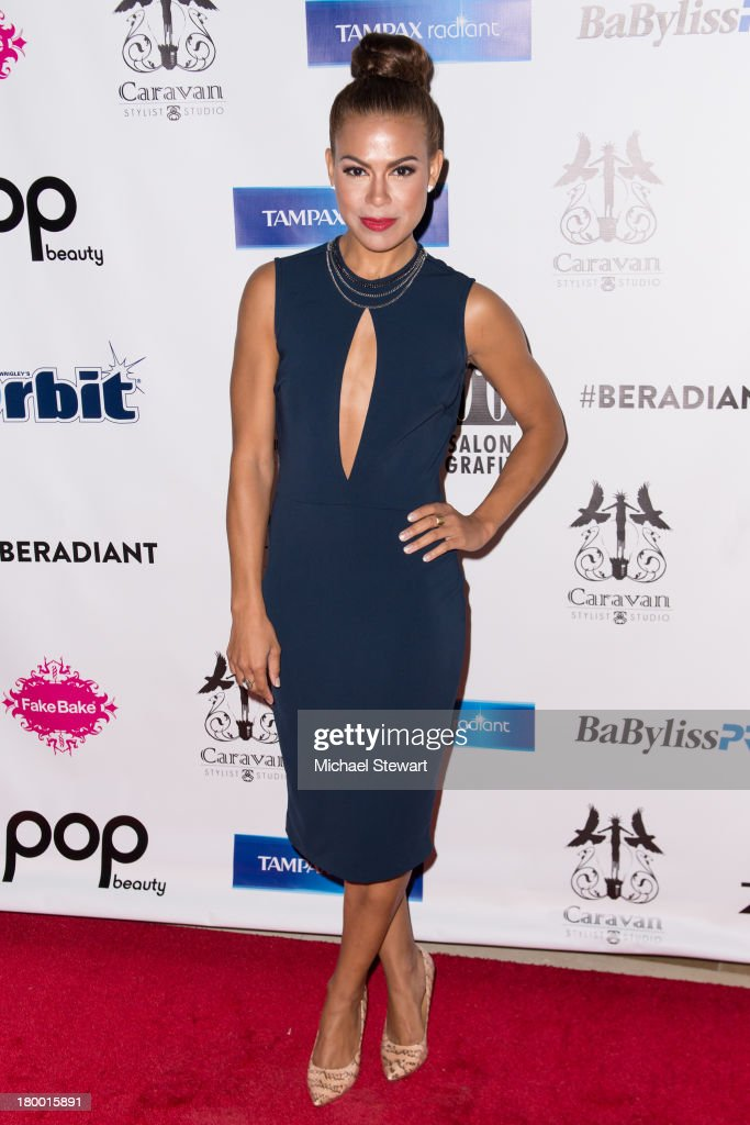 Actress <a gi-track='captionPersonalityLinkClicked' href=/galleries/search?phrase=Toni+Trucks&family=editorial&specificpeople=676875 ng-click='$event.stopPropagation()'>Toni Trucks</a> attends Caravan Stylist Studio's Fashion Week Soiree at Carlton Hotel on September 7, 2013 in New York City.