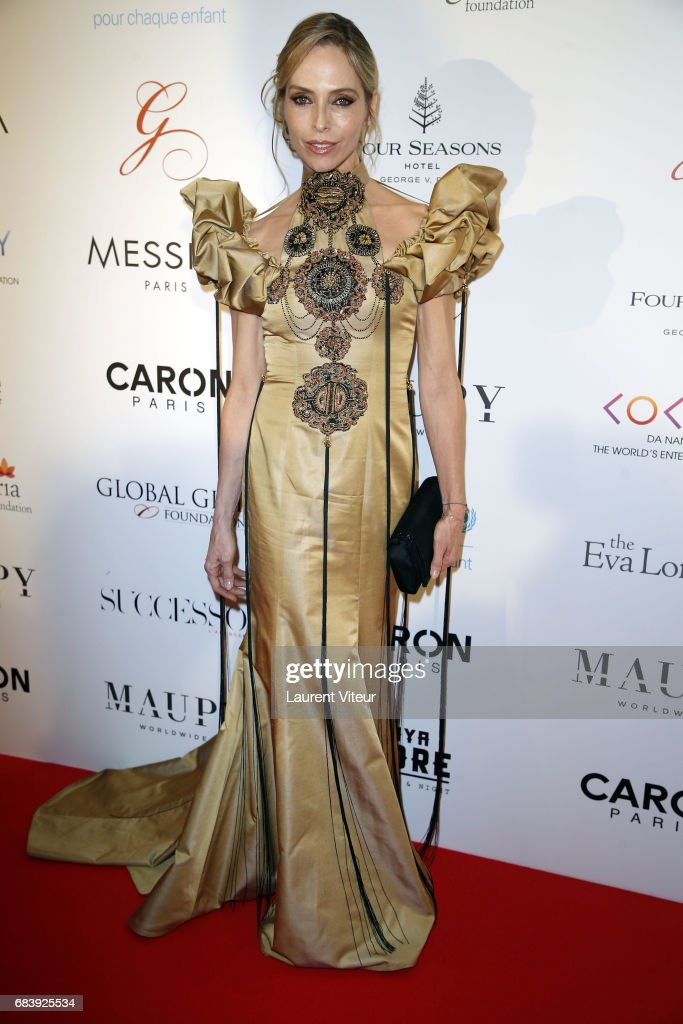 Actress Tonya Kinzinger attends Global Gift Gala 2017 at Hotel George V on May 16, 2017 in Paris, France.