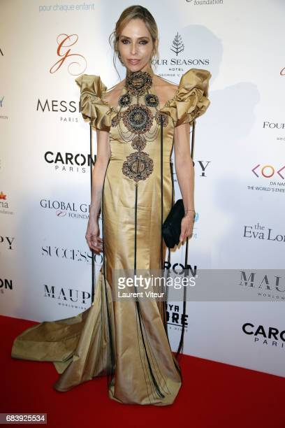Actress Tonya Kinzinger attends Global Gift Gala 2017 at Hotel George V on May 16 2017 in Paris France