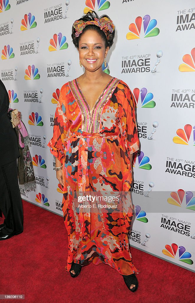 Actress <a gi-track='captionPersonalityLinkClicked' href=/galleries/search?phrase=Tonya+Lee+Williams&family=editorial&specificpeople=240561 ng-click='$event.stopPropagation()'>Tonya Lee Williams</a> arrives at the 43rd NAACP Image Awards held at The Shrine Auditorium on February 17, 2012 in Los Angeles, California.