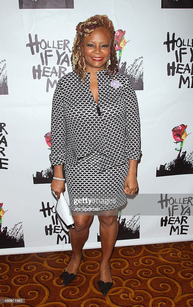 Actress Tonya Pinkins attends 'Holler If Ya Hear Me' opening night after party at Gotham Hall on June 19, 2014 in New York City.