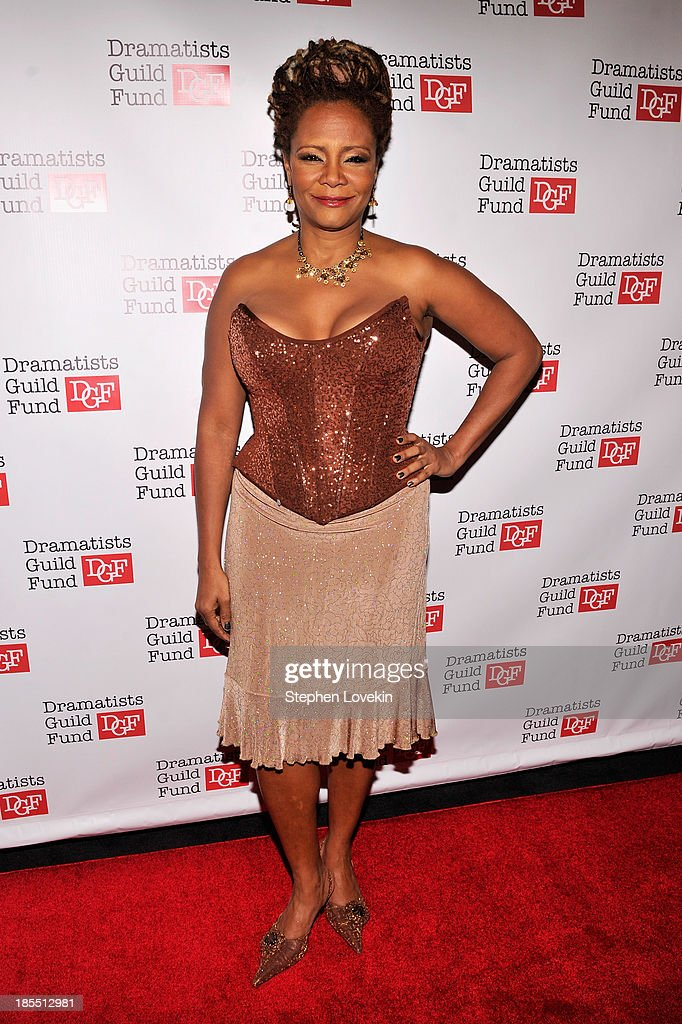 Actress <a gi-track='captionPersonalityLinkClicked' href=/galleries/search?phrase=Tonya+Pinkins&family=editorial&specificpeople=220801 ng-click='$event.stopPropagation()'>Tonya Pinkins</a> attends the Great Writers Thank Their Lucky Stars annual gala hosted by The Dramatists Guild Fund on October 21, 2013 in New York City.
