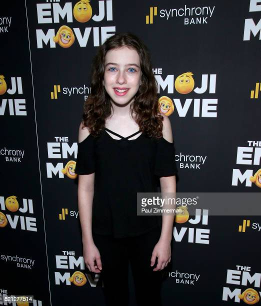 Actress Tori Feinstein attends 'The Emoji Movie' Special Screening at NYIT Auditorium on Broadway on July 23 2017 in New York City
