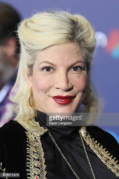 Actress Tori Spelling arrives at the AFI FEST 2016 presented by Audi premiere of Disney's 'Moana' held at the El Capitan Theatre on November 14 2016...