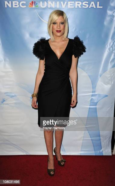Actress Tori Spelling arrives at the NBC Universal 2011 Winter TCA Press Tour AllStar Party at the Langham Huntington Hotel on January 13 2011 in...