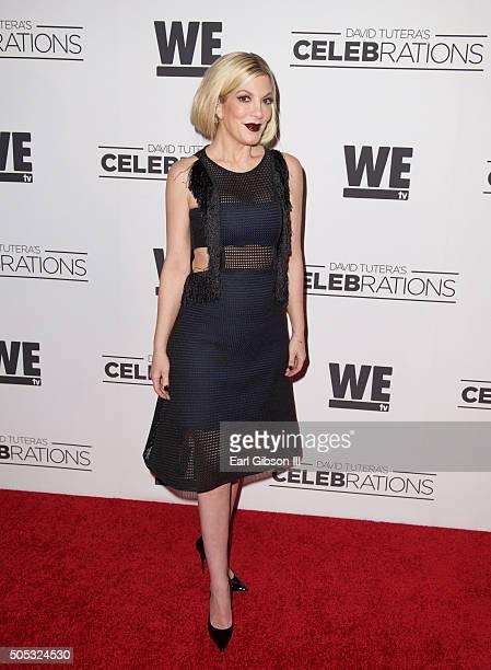 Actress Tori Spelling attends David Tutera 50th Birthday Celebration at Vibiana on January 15 2016 in Los Angeles California