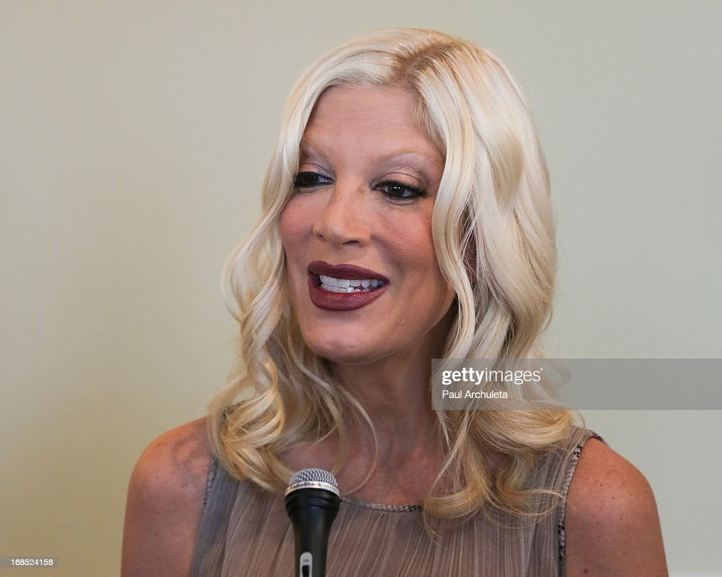 Actress Tori Spelling attends the Helping Hand of Los Angeles' 84th annual Mother's Day luncheon at the Beverly Hills Hotel on May 10, 2013 in Beverly Hills, California.