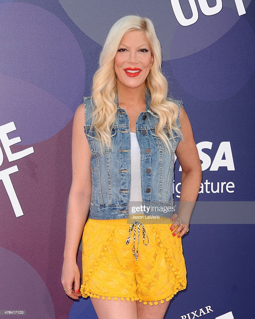 Actress Tori Spelling attends the premiere of 'Inside Out' at the El Capitan Theatre on June 8, 2015 in Hollywood, California.