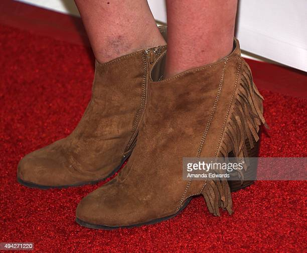 Actress Tori Spelling shoe detail arrives at The Elizabeth Glaser Pediatric AIDS Foundation's 26th A Time For Heroes Family Festival at Smashbox...