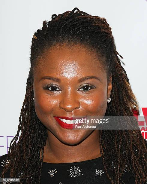 Actress Torrei Hart attends the celebrity family Sunday funday toy drive and screening of 'Alvin And The Chipmunks The Road Chip' at AMC Century City...