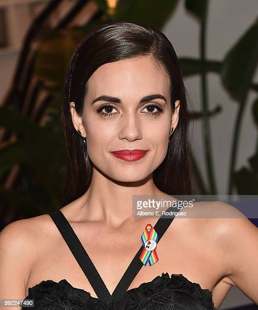 Actress Torrey DeVitto attends a cocktail reception Benefit for onePULSE Foundation at NeueHouse Hollywood on August 19 2016 in Los Angeles California