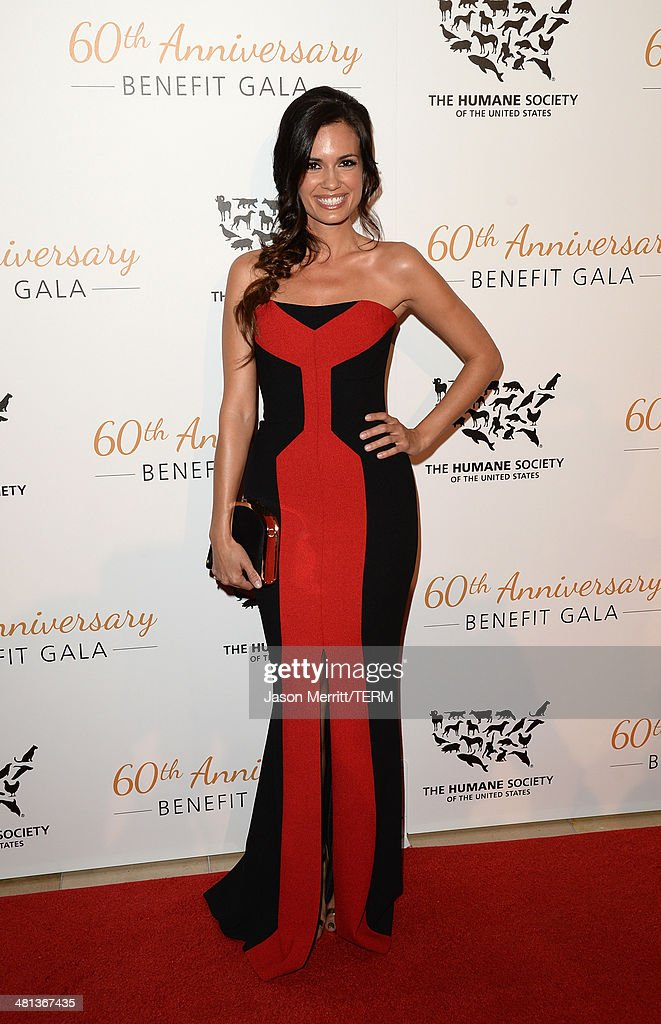 Actress <a gi-track='captionPersonalityLinkClicked' href=/galleries/search?phrase=Torrey+DeVitto&family=editorial&specificpeople=4357676 ng-click='$event.stopPropagation()'>Torrey DeVitto</a> attends the Humane Society of The United States 60th Anniversary Gala at The Beverly Hilton Hotel on March 29, 2014 in Beverly Hills, California.