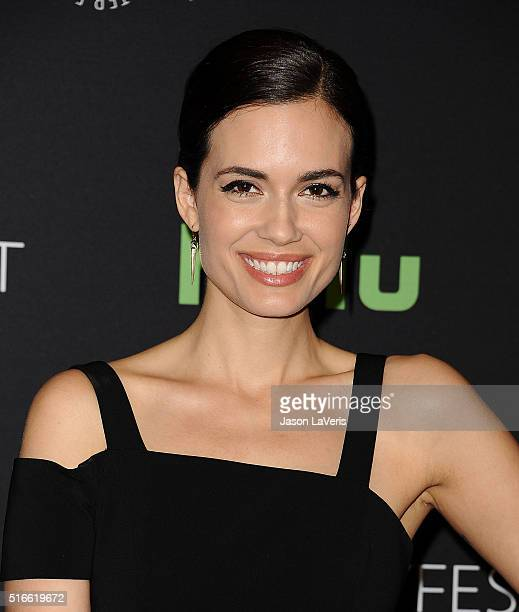 Actress Torrey DeVitto attends the salute to Dick Wolf at the 33rd annual PaleyFest at Dolby Theatre on March 19 2016 in Hollywood California