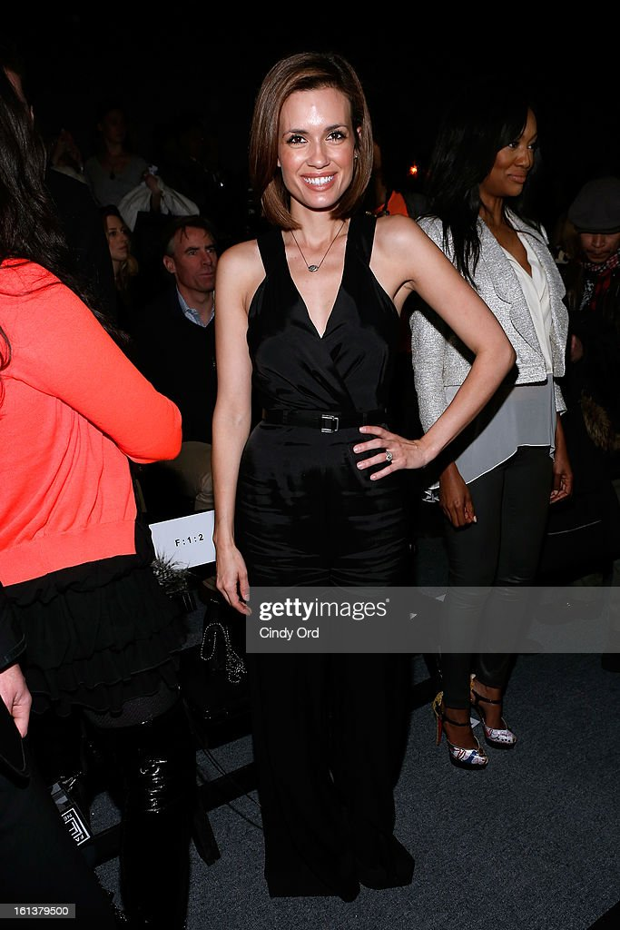 Actress Torrey Devitto attends the Tracy Reese Fall 2013 fashion show during Mercedes-Benz Fashion Week at The Studio at Lincoln Center on February 10, 2013 in New York City.