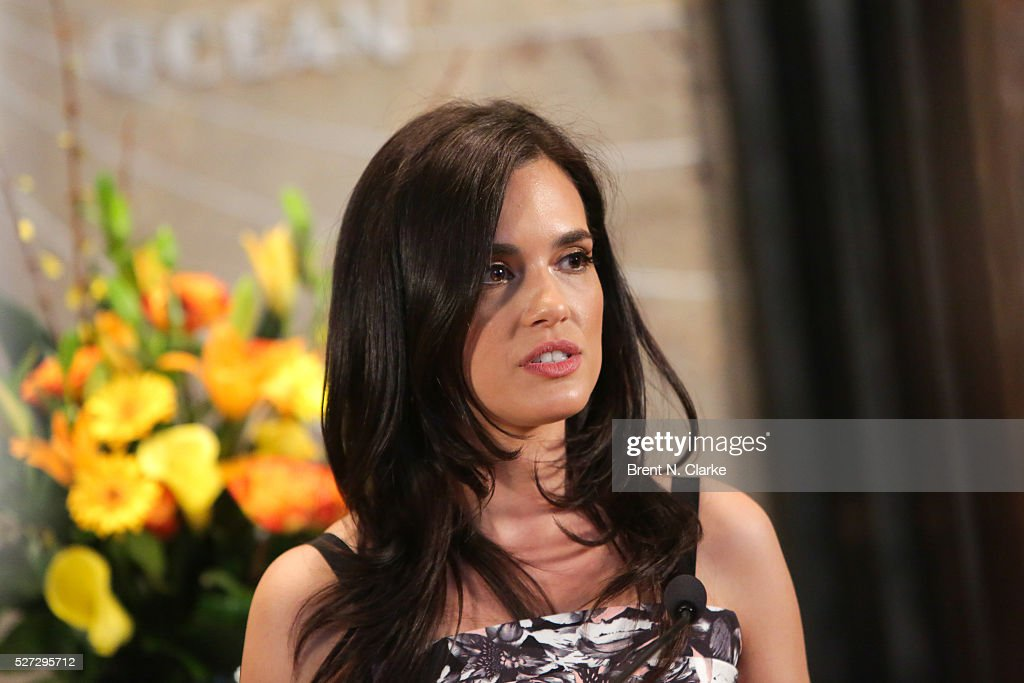 Actress Torrey DeVitto delivers remarks prior to lighting The Empire State Building green in honor of Mental Health Month at The Empire State Building on May 2, 2016 in New York City.