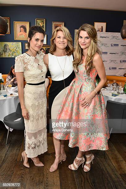 Actress Torrey DeVitto Katrina Gay and Actress Rachel McCord attend the Hope and Grace Luncheon with NAMI And Philosophy For Mental Health awareness...