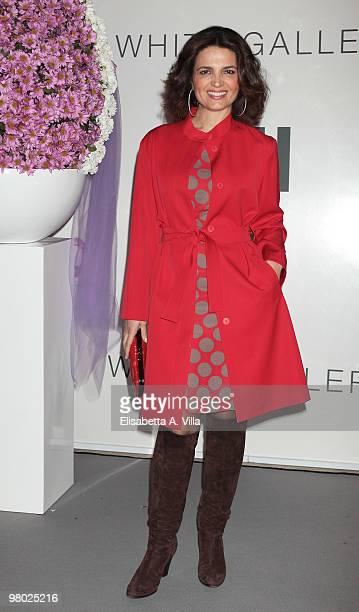 Actress Tosca D'Aquino attends 'L'Arte Nell'Uovo Di Pasqua' Charity Event at the White Gallery on March 24 2010 in Rome Italy