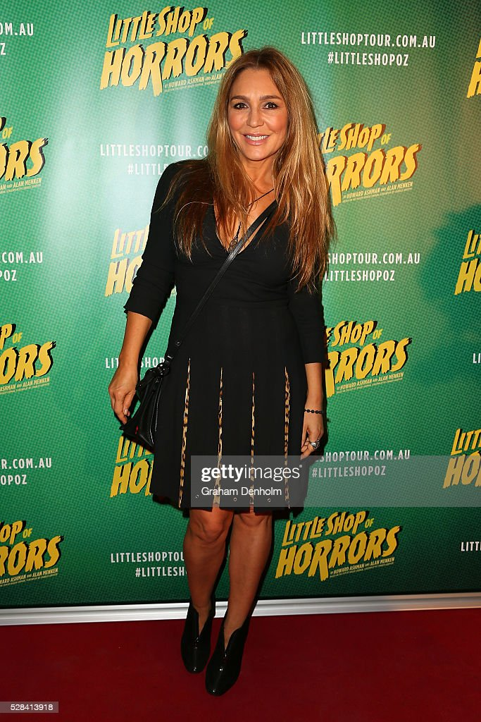 Actress <a gi-track='captionPersonalityLinkClicked' href=/galleries/search?phrase=Tottie+Goldsmith&family=editorial&specificpeople=213973 ng-click='$event.stopPropagation()'>Tottie Goldsmith</a> arrives ahead of the opening night for the Little Shop of Horrors at the Comedy Theatre on May 5, 2016 in Melbourne, Australia.