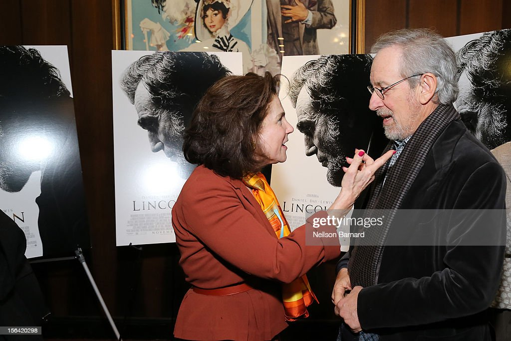 Actress Tovah Feldshuh and director Steven Spielberg attend the special screening of Steven Spielberg's 'Lincoln' at the Ziegfeld Theatre on November 14, 2012 in New York City.