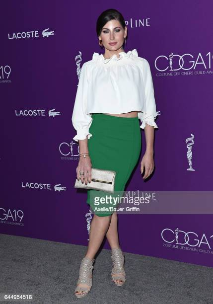 Actress Trace Lysette arrives at the 19th CDGA at The Beverly Hilton Hotel on February 21 2017 in Beverly Hills California