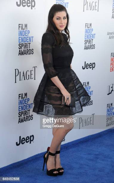 Actress Trace Lysette arrives at the 2017 Film Independent Spirit Awards on February 25 2017 in Santa Monica California