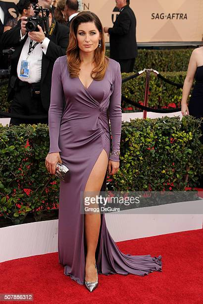 Actress Trace Lysette arrives at the 22nd Annual Screen Actors Guild Awards at The Shrine Auditorium on January 30 2016 in Los Angeles California