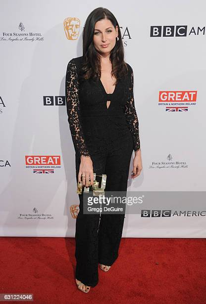 Actress Trace Lysette arrives at The BAFTA Tea Party at Four Seasons Hotel Los Angeles at Beverly Hills on January 7 2017 in Los Angeles California
