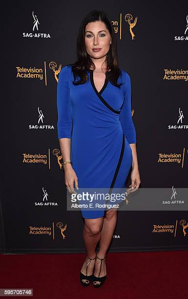 Actress Trace Lysette attends the Television Academy And SAGAFTRA's 4th Annual Dynamic and Diverse Celebration at The Saban Media Center on August 25...