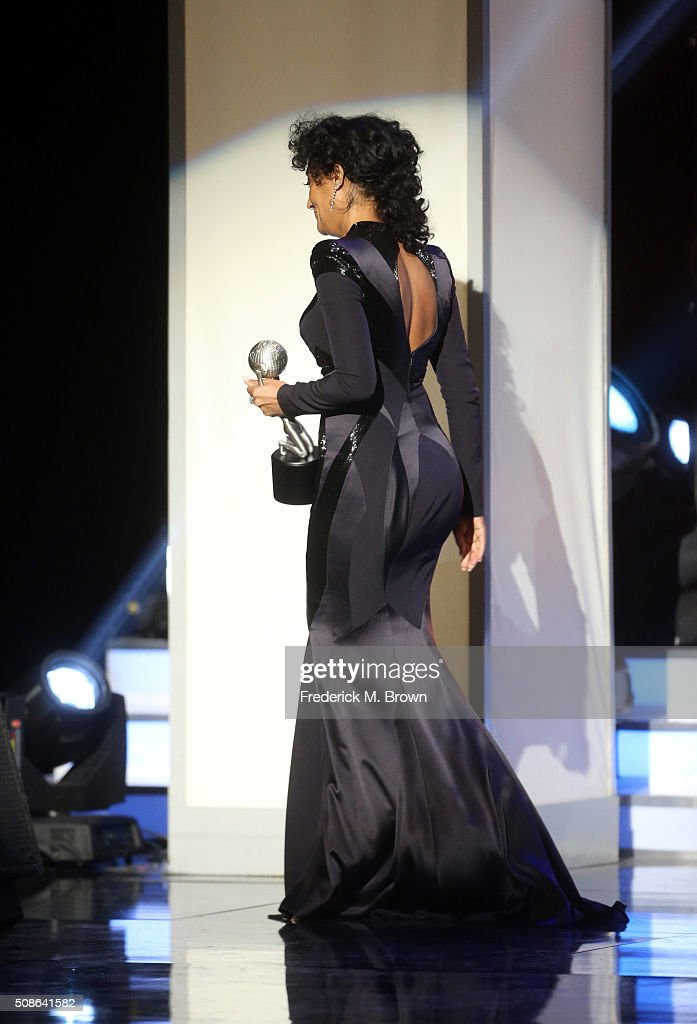 Actress <a gi-track='captionPersonalityLinkClicked' href=/galleries/search?phrase=Tracee+Ellis+Ross&family=editorial&specificpeople=211601 ng-click='$event.stopPropagation()'>Tracee Ellis Ross</a> accepts award for Outstanding Actress in a Comedy Series for 'Black-ish' onstage during the 47th NAACP Image Awards presented by TV One at Pasadena Civic Auditorium on February 5, 2016 in Pasadena, California.