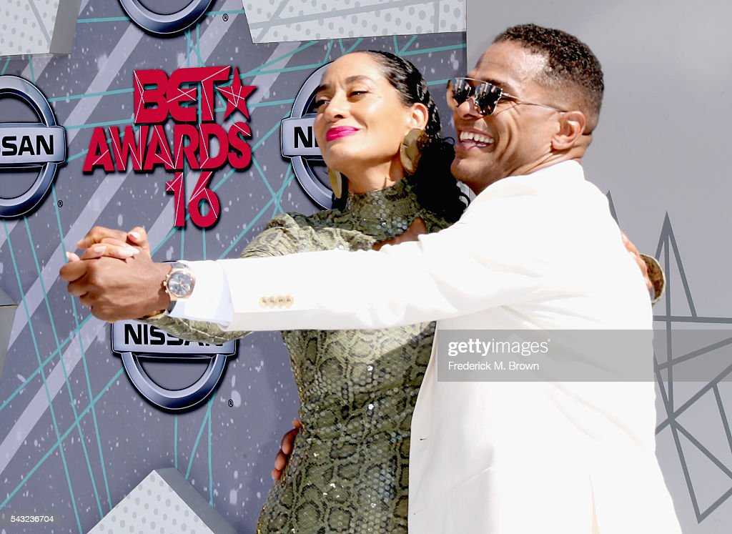 Actress <a gi-track='captionPersonalityLinkClicked' href=/galleries/search?phrase=Tracee+Ellis+Ross&family=editorial&specificpeople=211601 ng-click='$event.stopPropagation()'>Tracee Ellis Ross</a> and singer Maxwell attend the 2016 BET Awards at the Microsoft Theater on June 26, 2016 in Los Angeles, California.