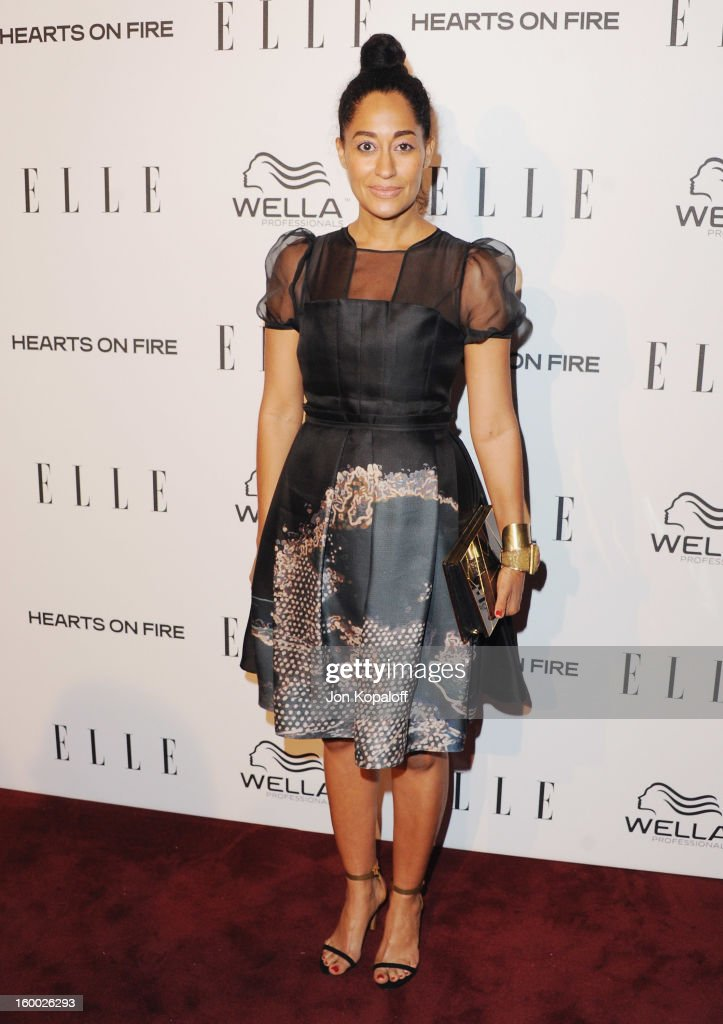 Actress Tracee Ellis Ross arrives at ELLE's 2nd Annual Women In TV Event at Soho House on January 24, 2013 in West Hollywood, California.